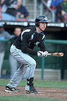 Syracuse Chiefs outfielder Corey Brown #21 at bat during a game against the Buffalo Bisons at Dunn Tire Park on April 7, 2011 in Buffalo, New York.  Syracuse defeated Buffalo 8-5.  Photo By Mike Janes/Four Seam Images