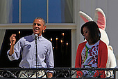 President Barack Obama and First Lady Michelle Obama participate in the White House Easter Egg Roll on the South Lawn on April 6,2015.<br /> Credit: Dennis Brack / Pool via CNP