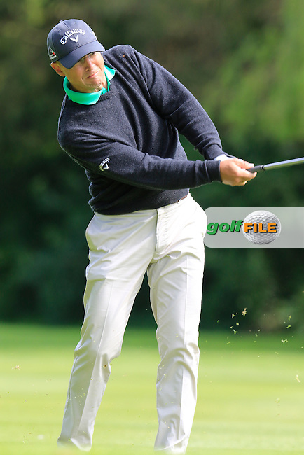 Niclas Fasth (SWE) on the 16th hole during Thursday's Round 1 of the 2016 Dubai Duty Free Irish Open hosted by Rory Foundation held at the K Club, Straffan, Co.Kildare, Ireland. 19th May 2016.<br /> Picture: Eoin Clarke | Golffile<br /> <br /> <br /> All photos usage must carry mandatory copyright credit (&copy; Golffile | Eoin Clarke)