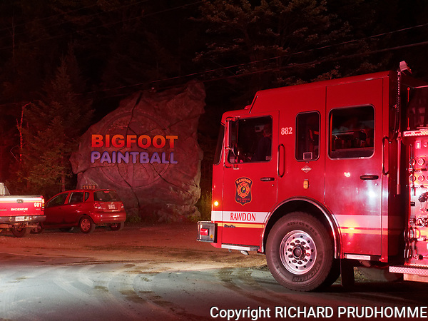 Fire at Bigfoot Paintball in Saint-Alphonse-Rodriquez