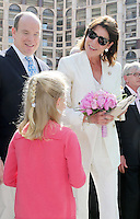 Prince Albert Of Monaco & Princess Caroline attend the traditional Bouquets Competition - Monaco
