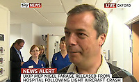 08/05/2010 Farage leaves hospital
