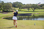 HOWEY IN THE HILLS, FL - MAY 11: Ziyi Wang of Carleton tees off during the Division III Women's Golf Championship. CollegeThe Claremont Mudd Scripps won the team and individual (Margaret Loncki) First Place Championships during the Division III Women's Golf Championship held at the Mission Inn Resort & Club on May 11, 2018 in Howey-In-The-Hills, Florida. (Photo by Matt Marriott/NCAA Photos via Getty Images)