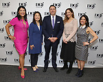 Nadine Wong, Audrey Choi, Patrick Morrow, Andrea Levine Sanft and Melanie Schnoll-Begun during An Evening Of Legacy, Philanthropy & Music For The Benefit Of The Dramatists Guild Foundation at Morgan Stanley Headquarters on May 13, 2019 in New York City.