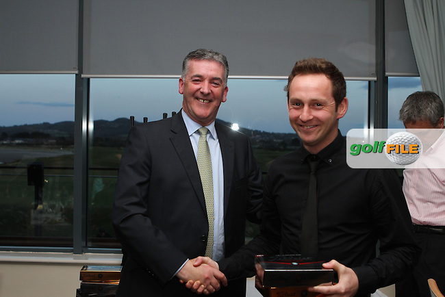 Best Gross from Seapoint Outing Tony Regan  at the Hilary Golf Society Presentation at Sutton Golf Course, presented here by Kevin Knightly of rabodirect...(Photo Jenny Matthews/www.golffile.ie)