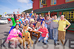 Stag Tour - Anthony Reen from Killorglin pictured seated with head of big blond hair enjoying a stop at The Shebeen Bar Cahersiveen on Saturday.