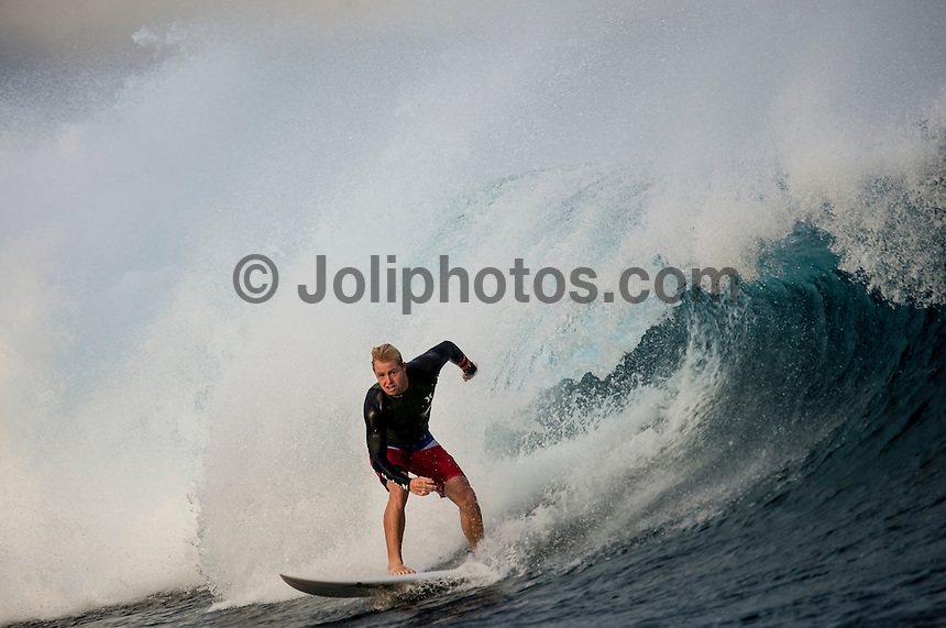 Namotu Island Resort, Namotu, Fiji. (Monday June 2, 2014) Nat Young (USA) – The 2014 Fiji Pro was called on this morning with the swell running in the 3' plus range. The start was delayed till 10.30 am because of the 9.30 high tide. . Photo: joliphotos.com