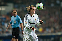 Luka Modric controls the ball