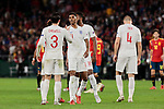 England's Ben Chilwell (L) and Marcus Rashford (R) celebrate the victory during UEFA Nations League 2019 match between Spain and England at Benito Villamarin stadium in Sevilla, Spain. October 15, 2018. (ALTERPHOTOS/A. Perez Meca)
