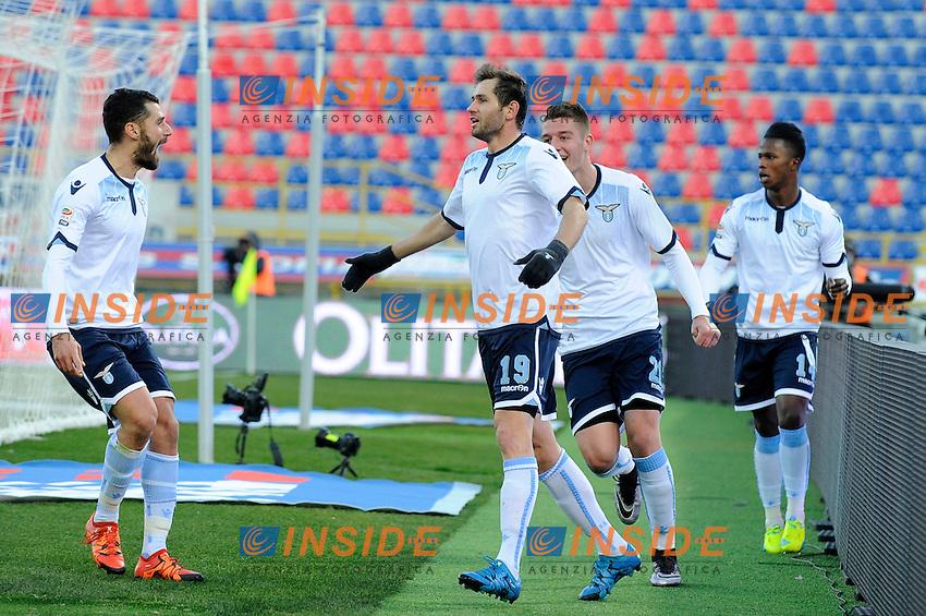 Esultanza Gol Senad Lulic Lazio (C) Goal celebration <br /> Bologna 17-01-2016 Stadio Dall'Ara Football Calcio Serie A 2015/2016 Bologna - Lazio Foto Insidefoto