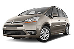 Low aggressive front three quarter view of a 2010 Citroen GRAND C4 PICASSO Millenium 5 Door Minivan 2WD