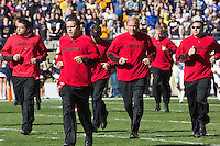 Louisville football coaches. The Louisville Cardinals defeated the Pitt Panthers 45-35 at Heinz Field, Pittsburgh PA on October 13, 2012.