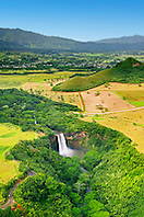 Wailua Falls, 173 foot drop, Wailua, Kauai, Hawaii