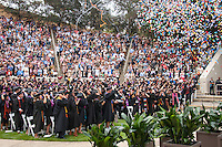Occidental College's Commencement for the class of 2015 at the Remsen Bird Hillside Theater, Sunday, May 17, 2015.<br />