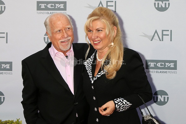 LOS ANGELES, CA - JUNE 9: Richard Dreyfuss, Svetlana Erokhin at the American Film Institute 44th Life Achievement Award Gala Tribute to John Williams at the Dolby Theater on June 9, 2016 in Los Angeles, California. Credit: David Edwards/MediaPunch