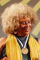 RIO DE JANEIRO, RJ, 23.10.2019 - ANGELA DAVIS-RJ - Ativista negra norte-americana Angela Davis durante  Encontro de Cinema Negro Zózimo Bulbul na Assembleia Legislativa do Estado do Rio de Janeiro (Alerj) no Rio de Janeiro (Foto: Vanessa Ataliba/Brazil Photo Press/ Folhapress)