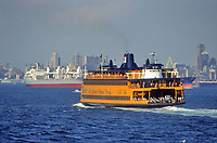 - USA, New York, ferry for Staten Island<br />