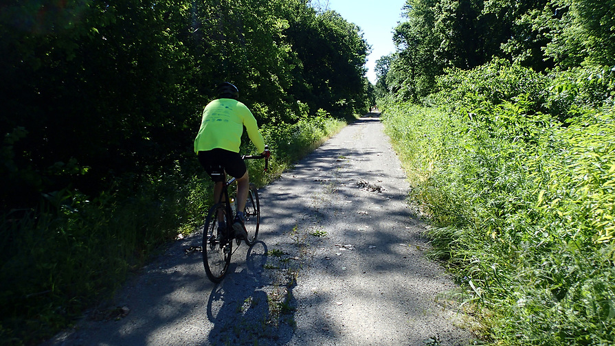 NWA Democrat-Gazette/FLIP PUTTHOFF <br /> Rock Island Trail is open for cycling and foot traffic for 46.4 miles between Pleasant Hill, Mo., and Windso., Mo. Horses are permitted on most of the route. The trail joins the Katy Trail at Windsor.