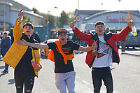 Swansea supporters arrive the Sky Bet Championship match between Swansea City and Cardiff City at the Liberty Stadium, Swansea, Wales, UK. Sunday 27 October 2019