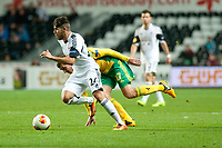 Thursday 24 October 2013  <br /> Pictured: Alejandro Pozuelo makes a run with the ball <br /> Re:UEFA Europa League, Swansea City FC vs Kuban Krasnodar,  at the Liberty Staduim Swansea