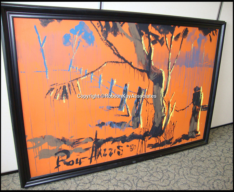 BNPS.co.uk (01202 558833)<br /> Pic: RobsonKayAssociates/BNPS<br /> <br /> Disgraced Rolf Harris is set to profit from the controversial sale of one of his original paintings even though it has plummeted in value since his conviction for child sex offences.<br />  <br /> The large oil painting called 'Outback Scene' was bought by its current owner for £14,000 in 2004. Experts have valued it at £5,000 to £10,000.<br />  <br /> If it does sell it will be subject to Artist's Resale Rights (ARR) which awards the artist of an original painting that sells at auction 4 per cent of the sale price.