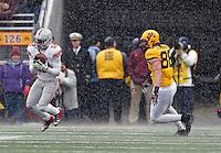Ohio State Buckeyes cornerback Doran Grant (12) makes an interception against Minnesota Golden Gophers tight end Maxx Williams (88) during the 3rd quarter at TCF Bank Stadium in Minneapolis, Minn. on November 15, 2014.  (Dispatch photo by Kyle Robertson)