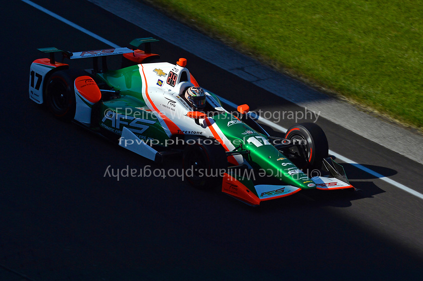 Verizon IndyCar Series<br /> Indianapolis 500 Practice<br /> Indianapolis Motor Speedway, Indianapolis, IN USA<br /> Monday 15 May 2017<br /> Sebastian Saavedra, Juncos Racing Chevrolet<br /> World Copyright: F. Peirce Williams