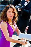 Salma Hayek on the Red carpet of Festival Film of Cannes