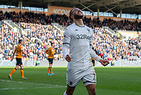 Leeds United's Tyler Roberts celebrates scoring his side's fourth goal <br /> <br /> Photographer Alex Dodd/CameraSport<br /> <br /> The EFL Sky Bet Championship - Hull City v Leeds United - Saturday 29th February 2020 - KCOM Stadium - Hull<br /> <br /> World Copyright © 2020 CameraSport. All rights reserved. 43 Linden Ave. Countesthorpe. Leicester. England. LE8 5PG - Tel: +44 (0) 116 277 4147 - admin@camerasport.com - www.camerasport.com