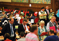Pictured: Police officers at the count. Friday 09 June 2017<br />Re: Counting of ballots at Brangwyn Hall for the general election in Swansea, Wales, UK