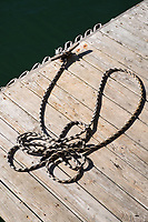 "Ropes are seen on a dock at Island Seafood's ""bait shop"" where fishermen bring lobsters to sell to the dealer in on Badger's Island in Kittery, Maine, USA, on Wed., Jan. 31, 2018."