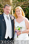 Abina O'Sullivan, daughter of John and Eileen, Scartaglin, and James Kelliher, son of Timmie and Eileen, Carragh Lake, who were married on Saturday in Our Ladyu of Lourdes CHurch, Scartaglin. Fr Michael Moynihan who officiated at the cermoney. Best man was Kevin Kelliher (brother of the groom) and groomsman was Leo O'Sullivan. Bridesmaids were, Kathleen Gallagher, and Abbie Kelliher. Flowrgirl was Feile O'Sullivan. Pageboy Luke Coffey. The reception was held in Ballygarry House Hotel & Spa, Tralee. The couple will reside Scartaglin.