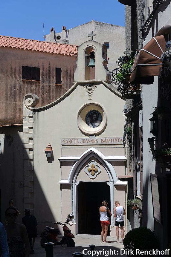 Eglise Saint Jean Baptiste in der Zitadelle von Bonafacio, Korsika, Frankreich