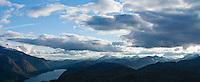 Lake Gjende and mountain landscape, Jotunheimen national park, Norway