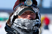 Portrait of Hugh Neff at the halfway point, Cripple checkpoint, during the 2010 Iditarod, Interior Alaska