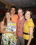 "Opening Night - God of Carnage - June 21, 2012 and continues through August 3. Fiona Hutchison (Guiding Light, One Life To Live) and husband John Viscardi (One Life To Live) star with Jason Guy and Michelle Eugene (R)  in ""God of Carnage"" directed by Roy Steinberg (GL, Days, AMC - director-producer) at The Cape May Stage in Cape May, New Jersey. (Photo by Sue Coflin/Max Photos)"