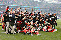 Toulon celebrating