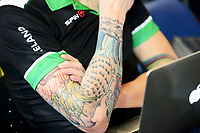 Picture by Simon Wilkinson/SWpix.com 03/03/2018 - Cycling 2018 UCI Track Cycling World Championships, Apeldoorn, The Netherlands - Day 4 - CyclingTattoo tattoos track centre participants