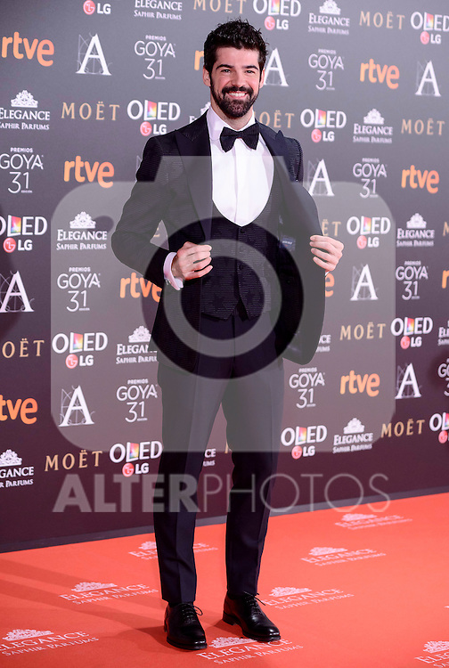 Miguel Angel Muñoz attends to the Red Carpet of the Goya Awards 2017 at Madrid Marriott Auditorium Hotel in Madrid, Spain. February 04, 2017. (ALTERPHOTOS/BorjaB.Hojas)
