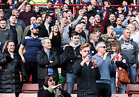 Bolton Wanderers Fans Celebrate as Bolton Wanderers' Adam Le Fondre scores a penalty making the score 1-1<br /> <br /> Photographer Rachel Holborn/CameraSport<br /> <br /> The EFL Sky Bet Championship - Barnsley v Bolton Wanderers - Saturday 14th April 2018 - Oakwell - Barnsley<br /> <br /> World Copyright &copy; 2018 CameraSport. All rights reserved. 43 Linden Ave. Countesthorpe. Leicester. England. LE8 5PG - Tel: +44 (0) 116 277 4147 - admin@camerasport.com - www.camerasport.com