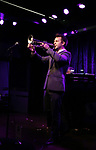 Benny Benack III performing onstage at Birdland Theater during the Media Open House Cocktail Party at the Birdland Theater on September 20, 2018 in New York City.