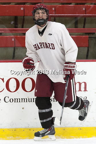 Alexander Kerfoot (Harvard - 14) - The Harvard University Crimson practiced on Friday, October 22, 2013, at Bright-Landry Hockey Center in Cambridge, Massachusetts.