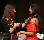 Stacey Mindich and Martyna Majok on stage at the The Lilly Awards  at Playwrights Horizons on May 22, 2017 in New York City.
