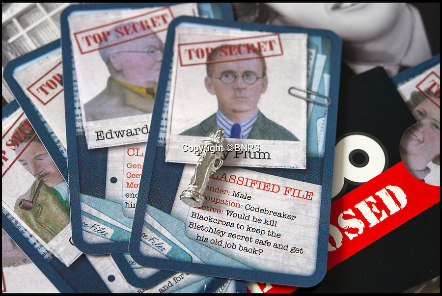 BNPS.co.uk (01202 558833)<br /> Pic: PhilYeomans/BNPS<br /> <br /> Golf clubs weapon<br /> <br /> Immitation game - Top Secret Bletchley Park gets its own murder mystery game in time for Xmas.<br /> <br /> Featuring characters based on the real boffins from the wartime establishment, including Bombe machine operator Ruth Bourne who is delighted to be immortalised in the new game.<br /> <br /> Cluedo: Bletchley Park follows the same principles as the classic game everyone knows and loves, but with an 'enigmatic' twist.<br /> <br /> During the war the country estate in Buckinghamshire housed mathematicians, linguists, chess champions, egyptologists and anthropologists all secretly working to crack Enigma, the German code machine leaders in Berlin thought was unbreakable.<br /> <br /> It is said the 'ultra' intelligence produced at Bletchley shortened the war by between two and four years and saved thousands of lives.<br /> <br /> The game is now on sale in Bletchley Park's gift shop and online, priced &pound;29.99.
