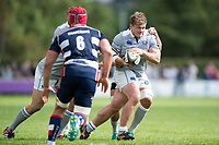 Nick Auterac of Bath Rugby in possession. Pre-season friendly match, between Bristol Rugby and Bath Rugby on August 12, 2017 at the Cribbs Causeway Ground in Bristol, England. Photo by: Patrick Khachfe / Onside Images