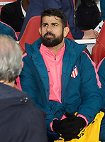 Diego Costa of Atletico Madrid pre match during the UEFA Europa League 1st leg match between Arsenal and Atletico Madrid at the Emirates Stadium, London, England on 26 April 2018. Photo by Andrew Aleksiejczuk / PRiME Media Images.