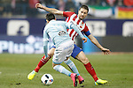 Atletico de Madrid's Gabi Fernandez (f) and Celta de Vigo's Fabian Orellana during Spanish Kings Cup match. January 27,2016. (ALTERPHOTOS/Acero)
