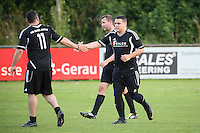Gross-Gerau 29.06.2016: FFH-Team spielt gegen eine Auswahl des VfR Gro&szlig;-Gerau, VfR-Sportplatz<br /> Torjubel VfR Gro&szlig;-Gerau