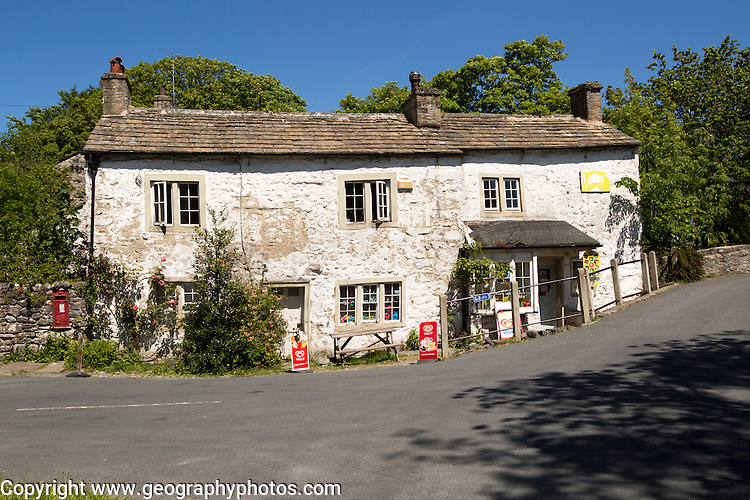 Old village shop in Malham village, Yorkshire Dales national park, England, UK