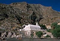Kirche Agios Nikolaos in Kamari auf der Insel Santorin (Santorini), Griechenland, Europa